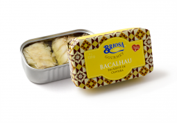 Treska/bacalhau v olivovém oleji