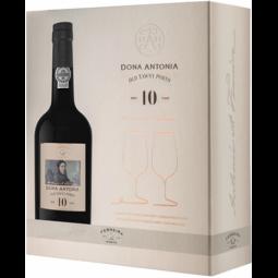 Ferreira D. Antonia Tawny 10 years Porto 0,75l + 2 sklenice